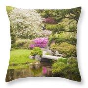 Asticou Azelea Garden - Northeast Harbor - Mount Desert Island - Maine Throw Pillow