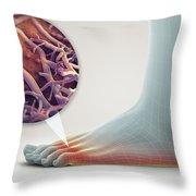 Athletes Foot Throw Pillow