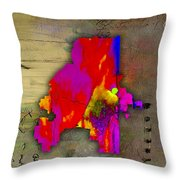 Atlanta Map Watercolor Throw Pillow