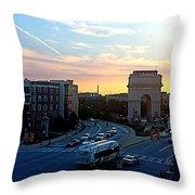 Atlantic Station Sunset Vista  Throw Pillow