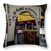 Au Cadet De Gascogne Throw Pillow