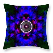 Audio Kaleidoscope Throw Pillow