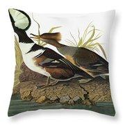 Audubon Merganser Throw Pillow