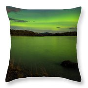 Aurora Borealis Northern Lights Display Throw Pillow