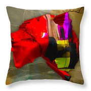 Australia Country Map Watercolor Throw Pillow