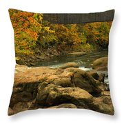 Autumn At Bulls Bridge Throw Pillow