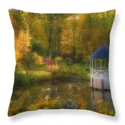 Autumn Gazebo Throw Pillow by Joann Vitali