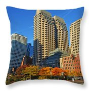 Autumn In Boston Throw Pillow