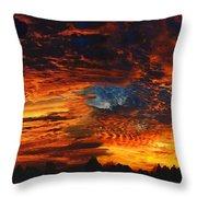 Awe Inspiring Sunset Throw Pillow