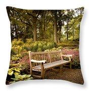 Azalea Garden Throw Pillow