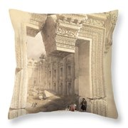 Baalbec Throw Pillow by David Roberts
