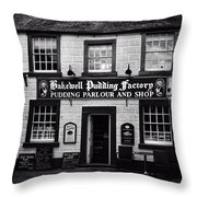 Bakewell  Pudding Factory In The Peak District - England Throw Pillow