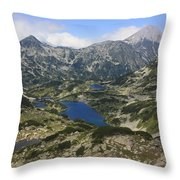 Banderishki Lakes Pirin National Park Bulgaria Throw Pillow
