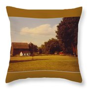 Barns And Landscape Throw Pillow