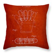 Baseball Glove Patent Drawing From 1922 Throw Pillow
