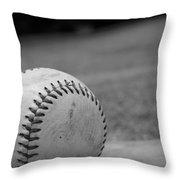 Baseball Throw Pillow by Kelly Hazel