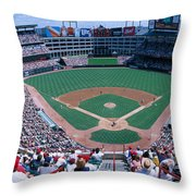 Baseball Stadium, Texas Rangers V Throw Pillow