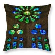 Basilica Sagrada Familia Throw Pillow