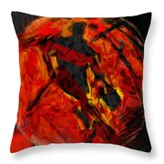 Basketball Abstract Throw Pillow