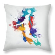 Basketball Player Throw Pillow by Aged Pixel