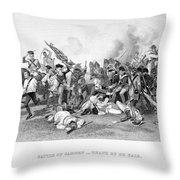 Battle Of Camden, 1780 Throw Pillow