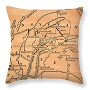 Battle Of Gettysburg, 1863 Throw Pillow