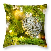 Bauble In A Christmas Tree  Throw Pillow