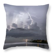 Bay Street Lightning Throw Pillow