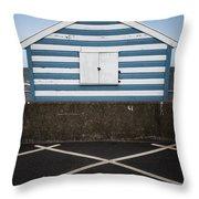 Beach Hut 41 Throw Pillow