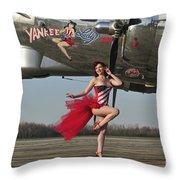Beautiful 1940s Style Pin-up Girl Throw Pillow