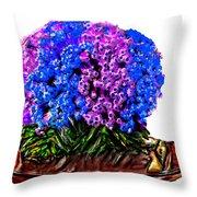 Beautiful Arrangement Of Flowers Throw Pillow