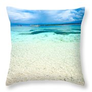 Beautiful Sea At Gili Meno - Indonesia Throw Pillow