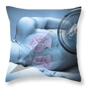 Bed Bugs And Sleeping Throw Pillow
