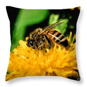 2 Bee Or Not 2 Bee Throw Pillow
