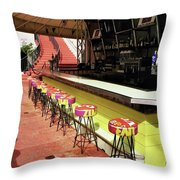 Before The Rush - South Beach Throw Pillow