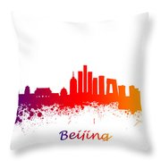 Beijing China Skyline  Throw Pillow
