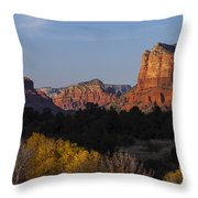 Bell Rock And Courthouse Butte Throw Pillow