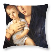 Bellini's Madonna And Child Throw Pillow
