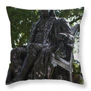 Benjamin Franklin Statue University Of Pennsylvania Throw Pillow