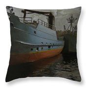 Bering Sea Throw Pillow