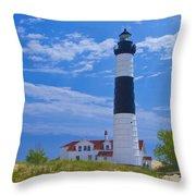 Big Sable Point Lighthouse Throw Pillow