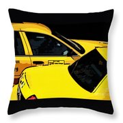 Big Yellow Taxis Throw Pillow