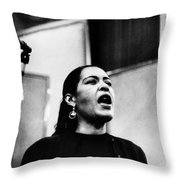 Billie Holiday (1915-1959) Throw Pillow