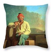 Bingham's Mississippi Boatman Throw Pillow