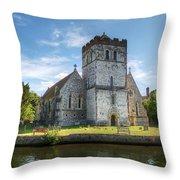 Bisham Church Throw Pillow