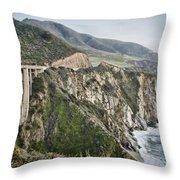 Bixby Bridge Vista Throw Pillow