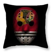 Blackhawks Jersey Mask Throw Pillow