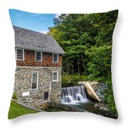 Blow Me Down Mill Cornish New Hampshire Throw Pillow