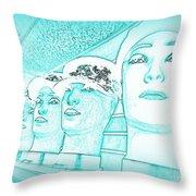 Blue Boys Throw Pillow