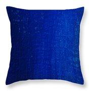 Blue Strokes Throw Pillow